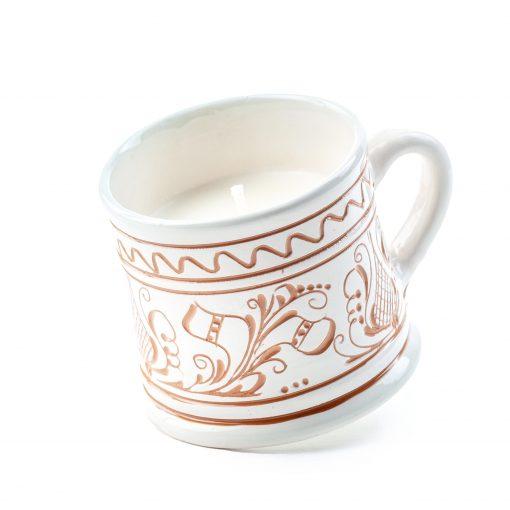Lumanare din Ceara de Soia si Eucalipt - Ceramica Small Size