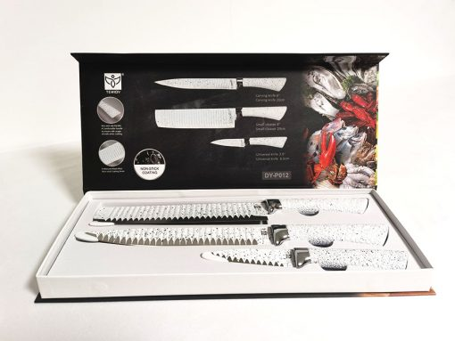 Set 3 cuțite design piatră terț