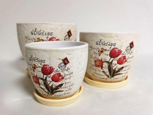 Set 3 ghivece din ceramică principal