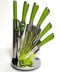 Set 5 cuțite cu foarfecă și ascuțitor principal