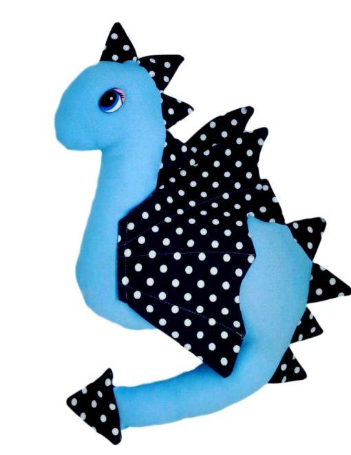Dragon cu lavandă albastru