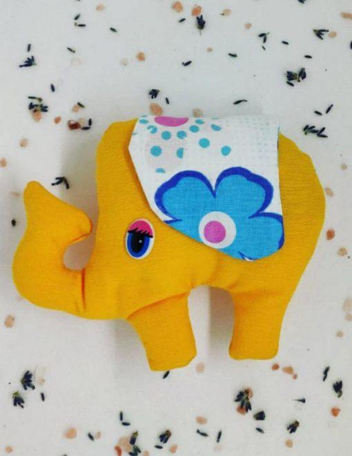 Elefănțel cu lavandă galben