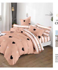 Lenjerie 6 piese din finet cu elastic pentru pat dublu (50)