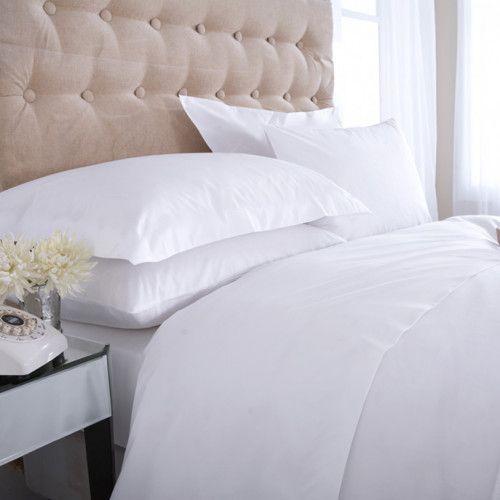 lenjerie pat hotel bumbac alb mercerizat policottone 180x215 70x70 brand dormisete 4 piese pat 2 persoane