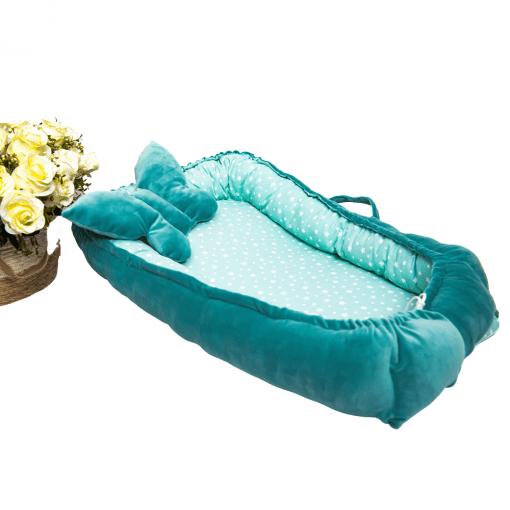 cuib bebelusi turquoise stelute