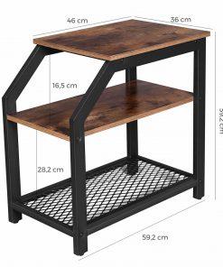 masa living industrial design rustic brown 561