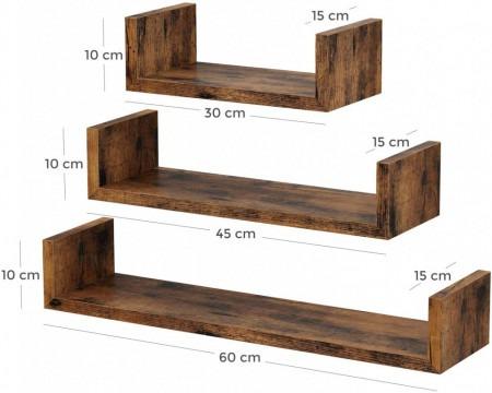 set raft perete 3 buc retro design 758