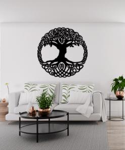 Decoratiune perete Copacul celtic 65x65 cm 85x85 cm