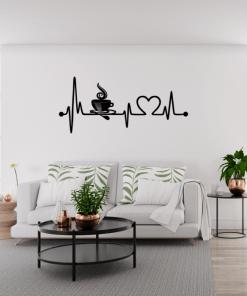 Decoratiune perete Ritmul inimii 75x33 cm 100x44 cm