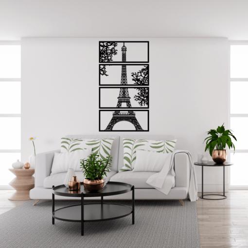 Decoratiune perete Turnul Eiffel 50x90 cm 75x135 cm 100x180 cm