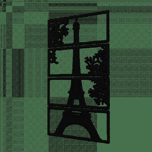 Decoratiune perete Turnul Eiffel50x90 cm 75x135 cm 100x180 cm