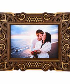 Rama foto mandala din lemn 001 26x21cm 1