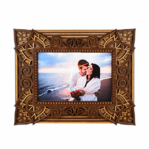 Rama foto mandala din lemn 002 25x20cm 1