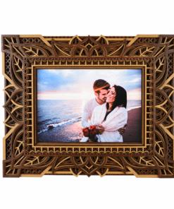 Rame foto mandala din lemn 28x23 cm 1