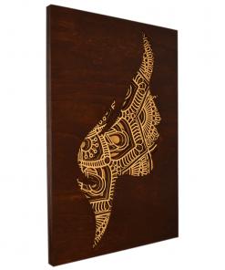 Tablou mandala din lemn – Femeia 40x50cm 1