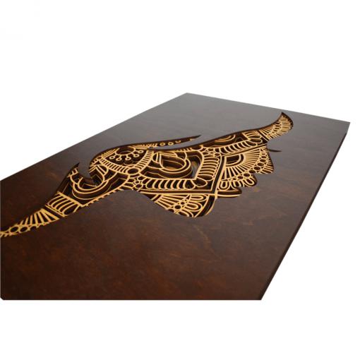 Tablou mandala din lemn – Femeia 40x50cm 2