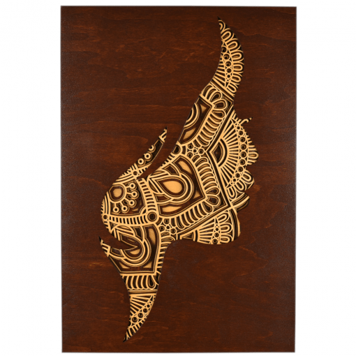 Tablou mandala din lemn – Femeia