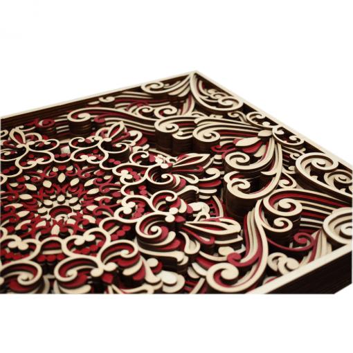 Tablou mandala din lemn Armonie 50x35cm 2