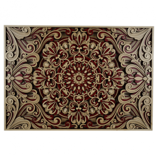 Tablou mandala din lemn Armonie