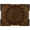 Tablou mandala din lemn Floare infinita 50x37cm 75x56cm