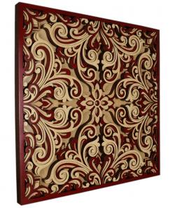 Tablou mandala din lemn Profunzime 50x50cm 1
