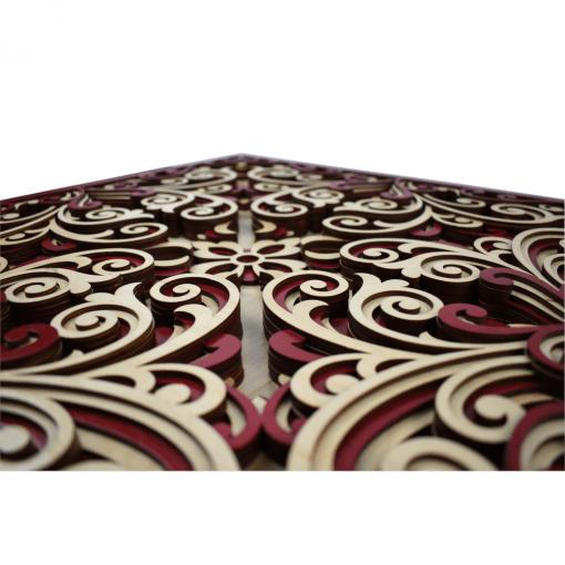 Tablou mandala din lemn Profunzime 50x50cm 2