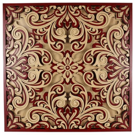 Tablou mandala din lemn Profunzime